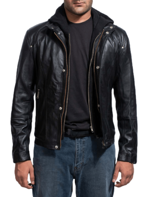 Black High school Leather jacket Picture