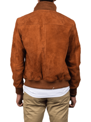 Brown Eaton Suede Leather Jacket Picture