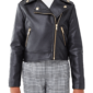 Kids Metallic Faux Leather jacket Picture