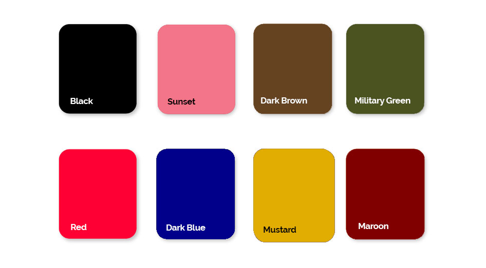 Most Selling Colors Picture