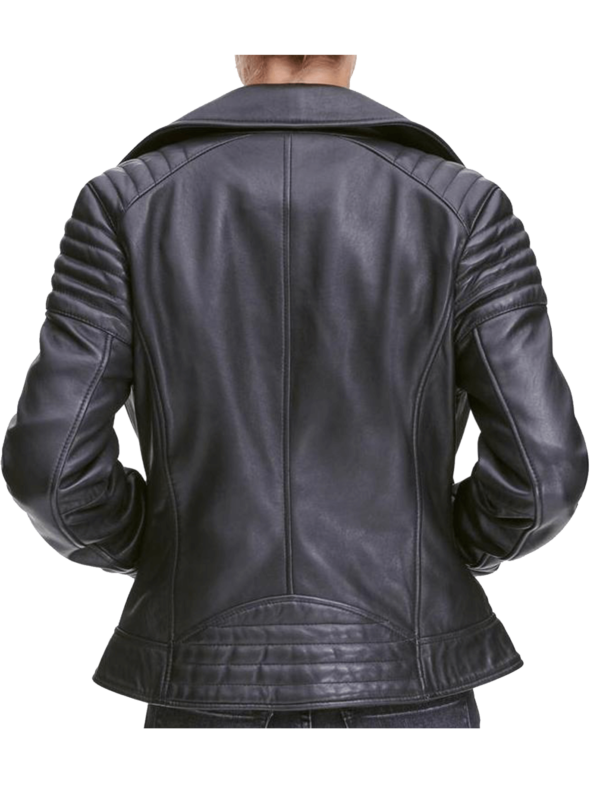 Women's Leathbrdige quilted leather Jacket Picture