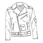 Vector Sketch Motorcycle Jacket. Biker Style Outfit